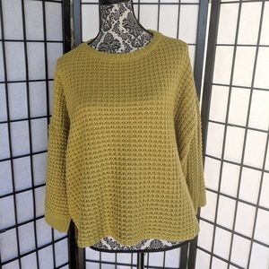 Green Bell Sleeve Sweater Simply Couture L NWT
